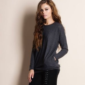 """Bare Anthology Sweaters - """"Absent Traveler"""" Soft Fuzzy Sweater Top"""