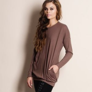 """Absent Traveler"" Soft Fuzzy Sweater Top"