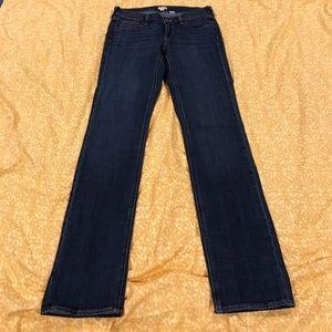 J Crew stretch strait leg jeans