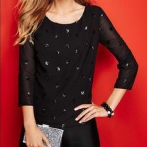 Talbots Tops - 2XHP!!Sequin Dot Party Blouse