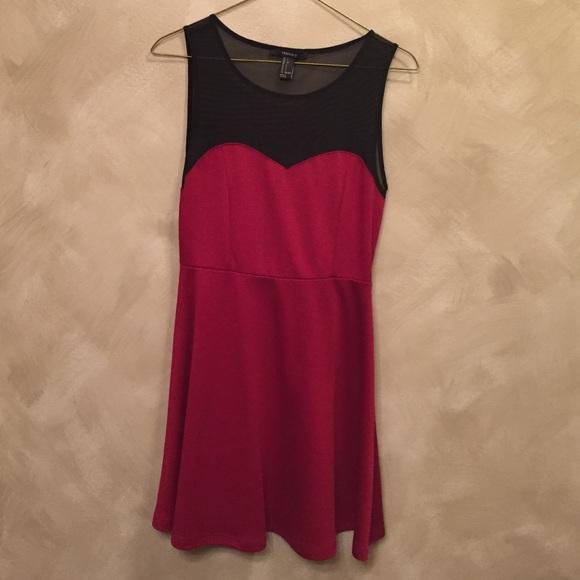 Forever 21 Dresses & Skirts - 🆑Red & Black Dress