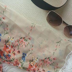 Sweaters - Floral Kimono