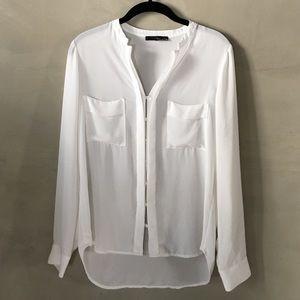 Ro&De sheer white blouse