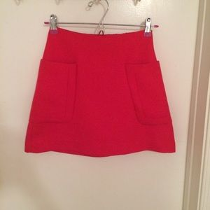 Red Express Mini Skirt with Pockets Size 00