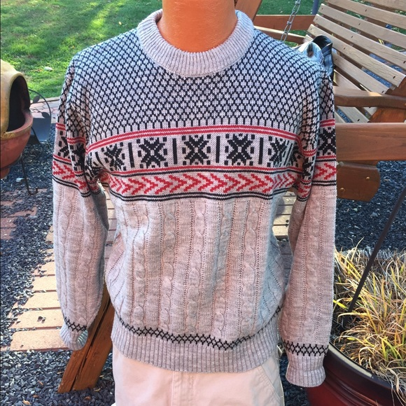 vintage jcpenney mens christmas sweater ugly - Jcpenney Christmas Sweaters