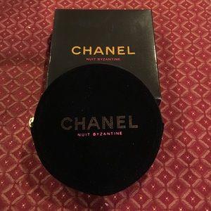 Accessories - Chanel black velvet pouch