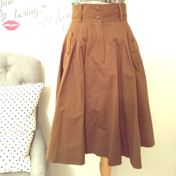 French Connection Dresses & Skirts - Brown French Connection military skirt