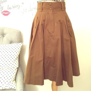 Brown French Connection military skirt