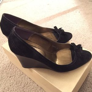 Open toe suede Jcrew wedges