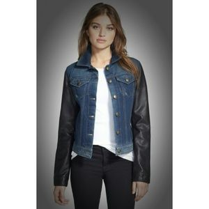 Laundry by Shelli Segal Denim - Laundry by SS Vegan Leather Jean Jacket NWT $180XS