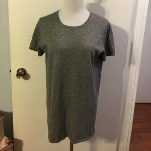Liz Lange maternity gray silk/cashmere sweater