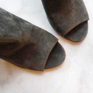 Sigerson Morrison Shoes - Sigerson Morrison Gray Suede and Croc Booties
