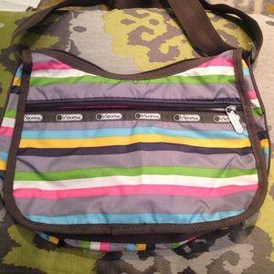 LeSportsac Handbags - LeSportsac striped purse very clean