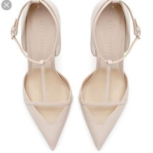 893c59fb1166 Zara Shoes - Zara Women s Low Cut T-bar Patent Leather heels