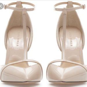 d65ef12cdbd Zara Shoes - Zara Women s Low Cut T-bar Patent Leather heels