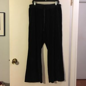 Motherhood maternity black velour comfy pants