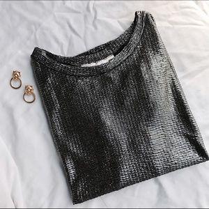 Shiny Silver Short Sleeve