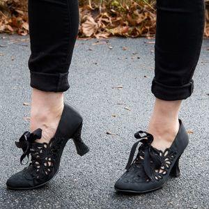 Old Fashioned Satin Heels