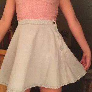 Light Wash Denim AA Circle Skirt
