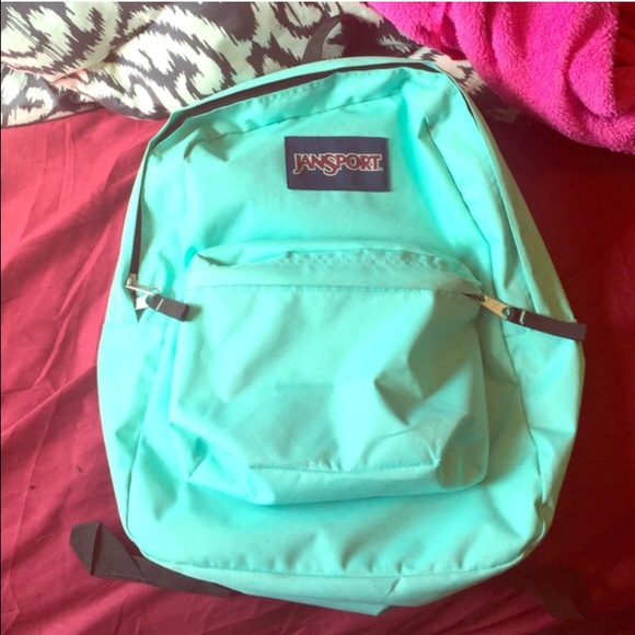 48% off Jansport Handbags - Mint green Jansport backpack from ...
