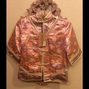 Hong Kong Dreams Other - Kimono Asian Silk Shirt Hong Kong Girls Pink