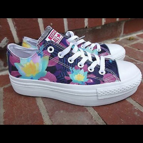 4a4a7b38026 Converse Shoes - Converse Lotus Platform Chucks