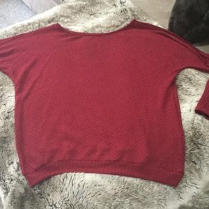 5624b83597b Tops | Red Wine Off Shoulder Batwing Top | Poshmark