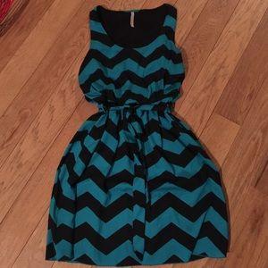Dresses & Skirts - Teal and Black Chevron Dress