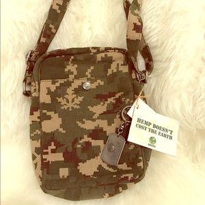 Handbags - B.NEW INDICA tm Organic Hemp Crossover Bag