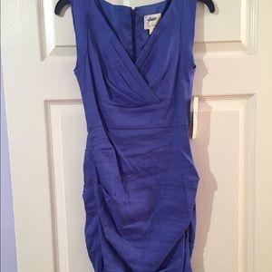 Blue linen Nicole Miller dress