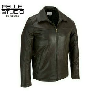 Wilsons Leather Other - PELLE STUDIO SOFT BLACK LEATHER JACKET