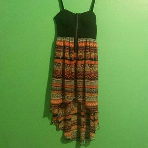 """SALE!!!High-low """"tribal"""" zip up front dress"""