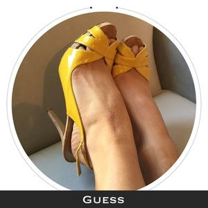 Guess by Marciano Shoes - {EUC} Guess | Canary Peep-Toe Heels
