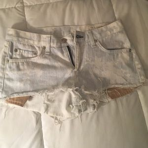 Rag & bone mini denim shorts
