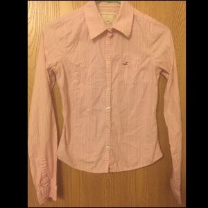 Hollister button down blouse, size small