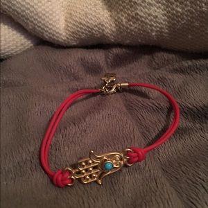 Red hamsa bracelet NWOT