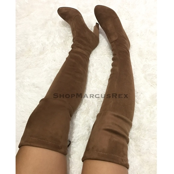57 zara shoes the knee boots brown high