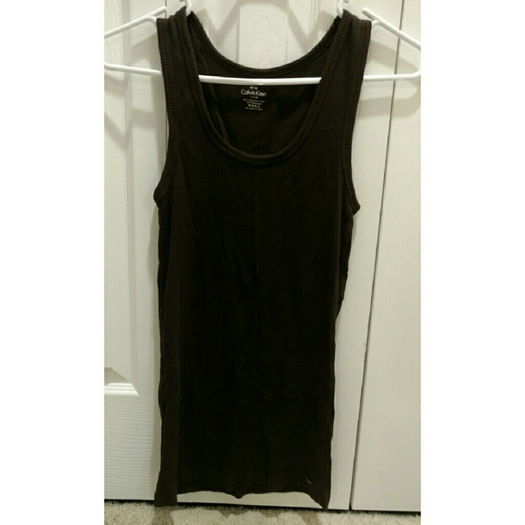 Long wife beater tank dress