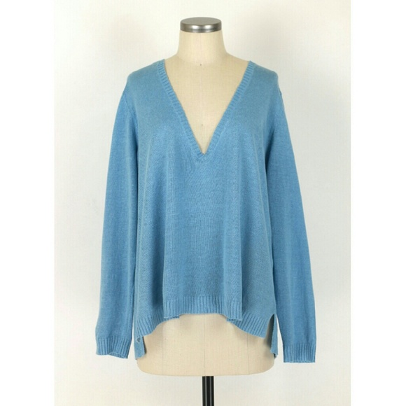 cc63f492c45 Eileen Fisher linen deep v-neck boxy sweater. M_582539b841b4e0e0ac04ca6a