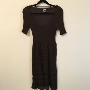 M by Missoni Dresses & Skirts - MISSONI Black & Brown Knit Scoop Neck Midi Dress