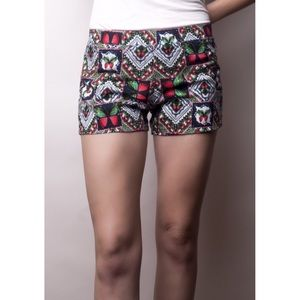 Mysterious by NPN Pants - Multicolor butterfly print elastic waist shorts!