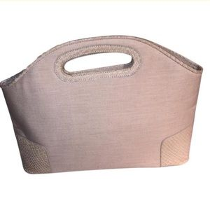 Loewe Handbags - LOEWE  natural linen TOTE PURSE PYTHON trim $2200