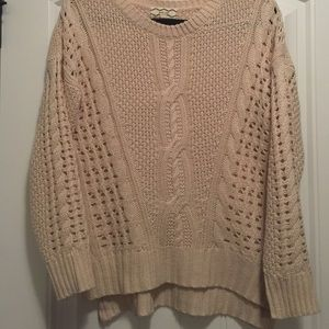 Pink Rose Sweaters - Cream sweater