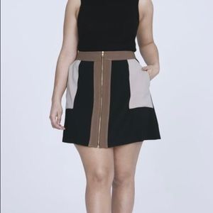 Elvi Dresses & Skirts - Color Block Skirt