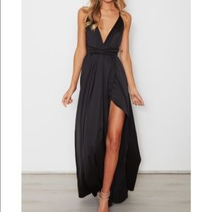 Black Evening Gown/Maxi Dress- BRAND NEW