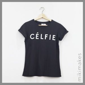Sincerely Jules Tops - SINCERELY JULES • black Celfie tee