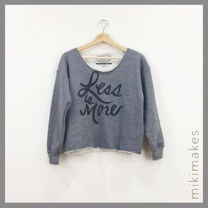 Sincerely Jules Tops - SINCERELY JULES • grey less is more sweatshirt