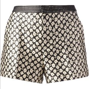 RED Valentino Pants - RED Valentino Women's Metallic Floral Print Shorts