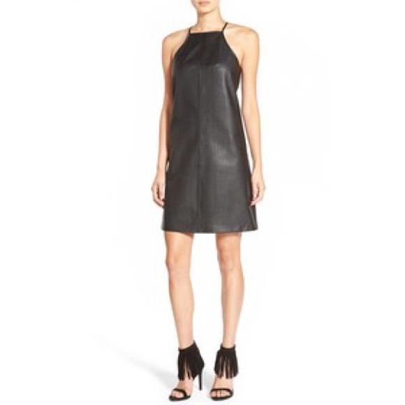 Leith Dresses New Leather Halter Dress Nordstrom Poshmark