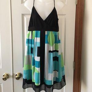 Dress Barn Dresses & Skirts - Beautiful crepe spaghetti strap lined dress.